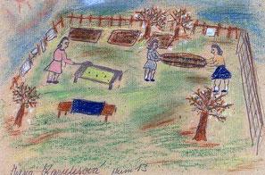 Airing mattresses in the garden by Irena Karplusová