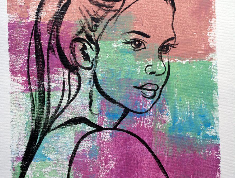 A Girl in Acrylic